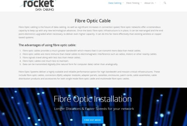 Fibre Optic Cable Installation, Rocket Data Cabling, Fibre Optic Cable, Optic Fibre