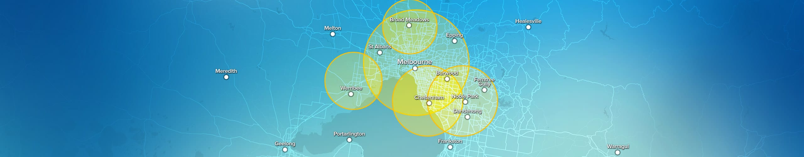 Rocket Networks Fixed Wireless Internet Broadband Services for Melbourne Metro Area Coverage Map